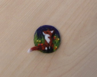 Fox Brooch,Felt Fox,Fox Jewellery,Felted Fox,Fox,Fox gift,Fox Present