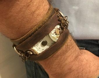 Leather Cuff Hidden Treasure
