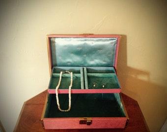 Vintage Farrington Pink Jewelry Box