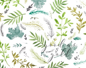 WaterColor Plants Print