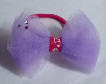 Lilac Bow Hair Bobble