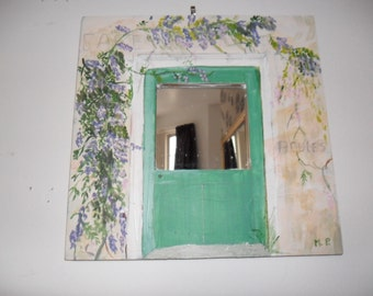 Decorative hand painted mirror