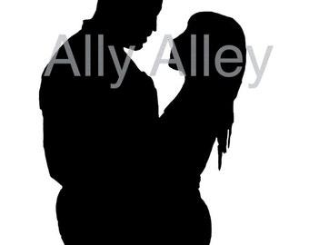 Couple Silhouette Digital File