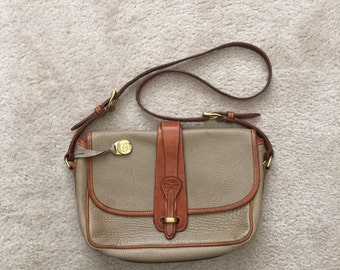 DOONEY & BURKE Classic Tan and Pebble All Weather Leather Handbag; Cross Body