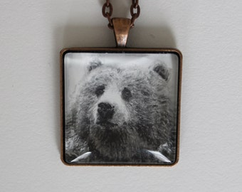 Hand Drawn Bear Necklace