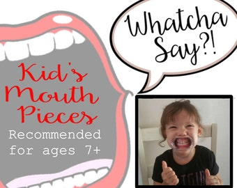 Kid's Size Mouth Piece Props Open Mouth Game Smaller size  - Extra Mouth Pieces -Mouth Opener Game -Cheek Retractors - Whatcha Say?! Dentist