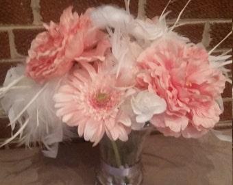 Pink Chiffon Floral Arrangement