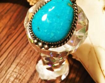 Genuine Turquoise Caribbean Blue Ring