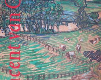 Vincent van Gogh - vintage museum poster - offset litho 1990