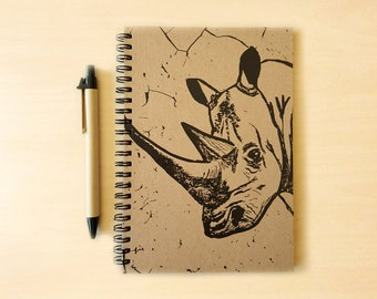 Rhino Kraft Notebook/Sketchbook Spiral Bound - Blank pages