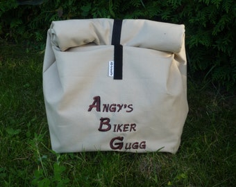 Cooler Lunchbag size 1, embroidered, Vesper bags, snack bags, breakfast bag, can be customized