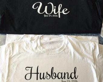 Custom Husband and Wife Tshirts