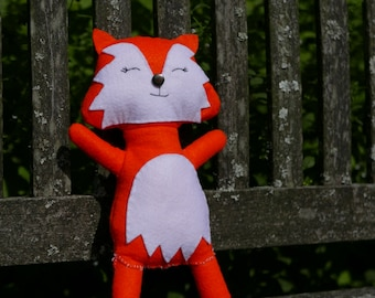 Autumn Fox - Handmade Scottish Felt Plush