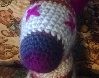 Baby's First Plushie- Crochet Zebra Doll With Multicolor Stripes