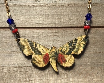 Natural Whimsy Collection: Moth Necklace