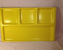 Extra Large Bright Yellow School Cafeteria Divided Lunch Tray