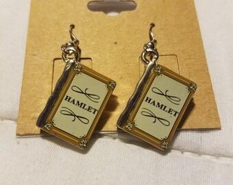 Hamlet book earrings
