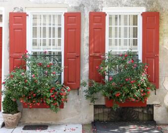 Charleston Window Boxes // Southern Art, Charleston Art, Charleston Print, Fine Art Photography Print, Travel Photography, Wall Art