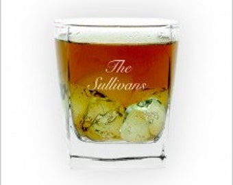 Personalized Rocks Glasses - Set of 4 - 3204