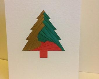 Christmas Tree Card - Iris Folding