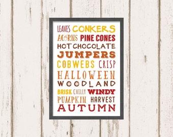 Autumn A4 print