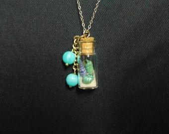 Shell bottle pendant