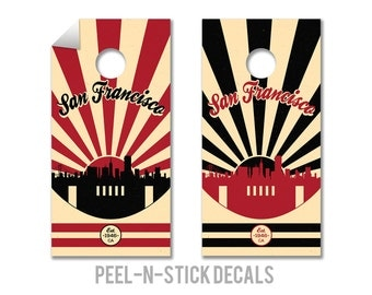 San Francisco Football Cornhole Board Decals