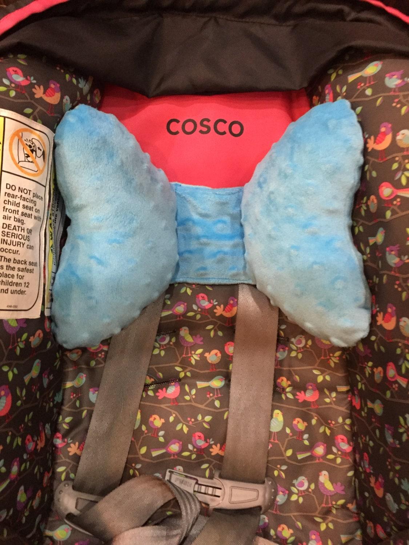 Blue Minkie Infant Car Seat Headrest Pillow