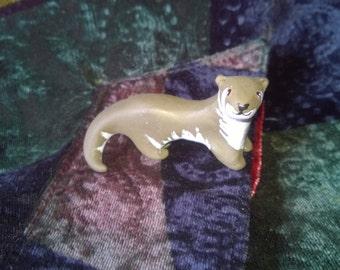 Polymer Clay Totem Talisman Animal Figure Otter