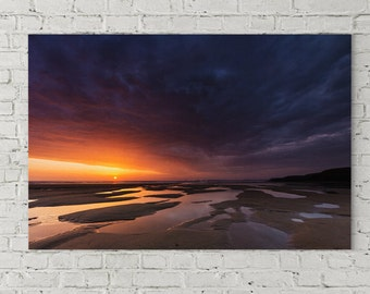 Sunset at La Palue, canvas printed 80 x 120 cm, numbered 9 of 30