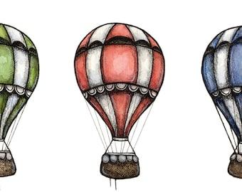 Three Balloons Print