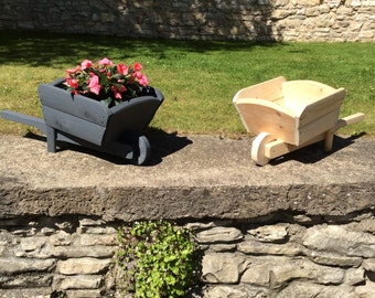 Decorative Wheelbarrow Wooden Planter (Free Delivery) Garden planters, plant holder, outdoor planter