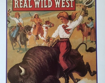 101 Ranch Real Wild West Show Postcard