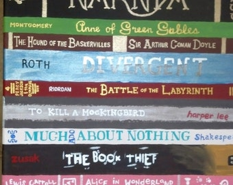 Personalized Bookshelf Painting