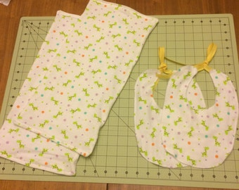 Custom Baby Bibs and Burp Cloths