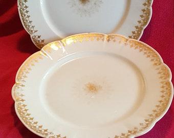 M. REDON France Set Of 2 Plates