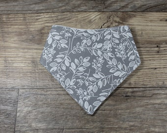 Bandana Bib   Leaf   Unisex   Bibdana   Teething   Baby   Drool Bib   Kenton Creations   Perfect Gift   Handmade in Canada