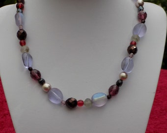 Vintage Glass bead choker necklace