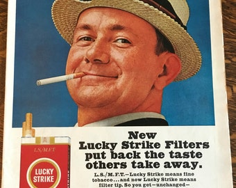 Lucky Strike Ad from 1965 LOOK magazine