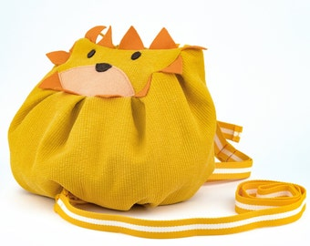 Yellow Lion Mochi Bag for Kids