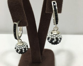925 Sterling Silver Earrings  With Crystal Stones