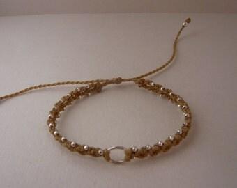 Macramé with 925 silver bracelet