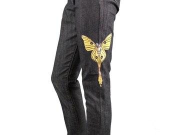 Hand-painted Denim Jeans
