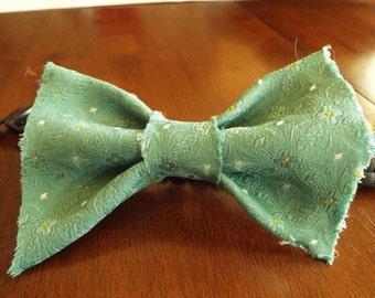 "Slip On Collar Bow Tie ""Fancy Smancy"" Fabric"