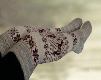 Winter knee socks, Socks merino wool,  Wool leg warmers, Over the knee socks, Womens winter socks, Wool socks women, Womens knitted socks