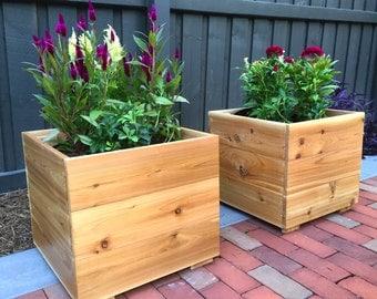 BloomBox Cedar Ground Planter