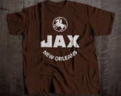 JAX Beer New Orleans T-Shirt | Ringspun Unisex and Ladies Fit Tee | Vintage Bar and Brewery Label Clothing