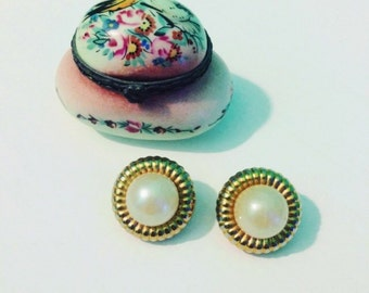 Vintage earrings clip 80 years