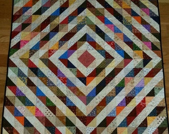 Barn Raising Quilt Pattern Free Knitting : Barn raising Etsy
