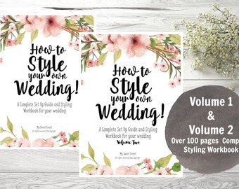 Wedding Planner, Printable Wedding Planner, Wedding Styling Planner PDF, How to Style your own Wedding, Instant Download, VOL 1 & Vol 2.